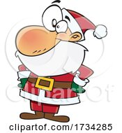 Poster, Art Print Of Clipart Cartoon Confident Santa