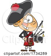 Clipart Cartoon Scottish Boy