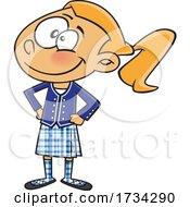 Clipart Cartoon Scottish Girl