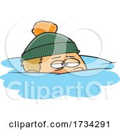 Clipart Cartoon Boy Snowed Under