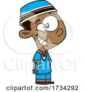 Clipart Cartoon South African Boy