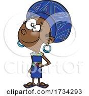 Poster, Art Print Of Clipart Cartoon South African Girl