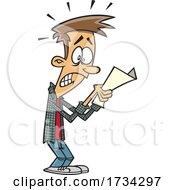Clipart Cartoon Teen Boy Receiving A Bad Grade