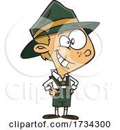 Clipart Cartoon German Boy