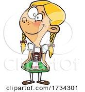Poster, Art Print Of Clipart Cartoon German Girl