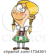 Clipart Cartoon German Girl