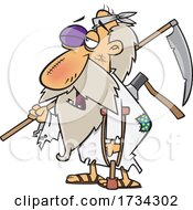 Clipart Cartoon Beat Up Father Time