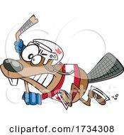 Clipart Cartoon Hockey Beaver