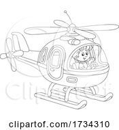 01/03/2021 - Black And White Little Boy Piloting A Helicopter
