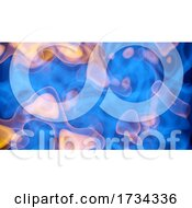 3d Swirling Dust Smoke Pattern Clouds in Blue and Orange by Steve Young #COLLC1734336-0194