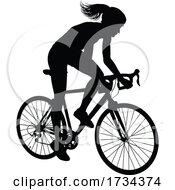 01/07/2021 - Woman Bike Cyclist Riding Bicycle Silhouette