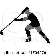 01/07/2021 - Ice Hockey Player Sports Silhouette