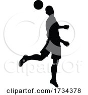 01/07/2021 - Soccer Football Player Silhouette