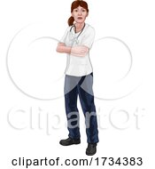 Doctor Or Nurse Woman In Scrubs Medical Worker by AtStockIllustration