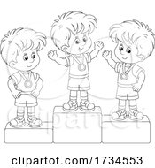 Poster, Art Print Of Kids On Placement Podiums