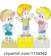 Poster, Art Print Of Boys On Placement Podiums