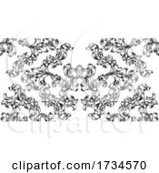 Floral Motif Scroll Pattern Seamless Tile
