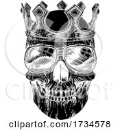 Skull Cool Sunglasses Skeleton In Shades And Crown