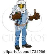 01/10/2021 - Eagle Mascot Carpenter Handyman Holding Hammer