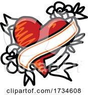 Valentine Love Heart Tattoo