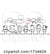 Poster, Art Print Of Stick People Talking