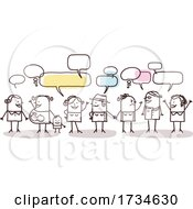 Stick People Talking by NL shop #COLLC1734630-0109