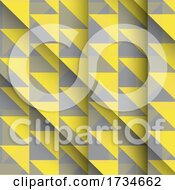 Yellow And Grey Low Poly Geometric Background