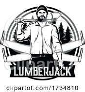Poster, Art Print Of Logging Sawmill Or Lumberjack Design