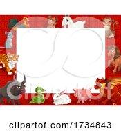 Poster, Art Print Of Chinese Zodiac Animal Border