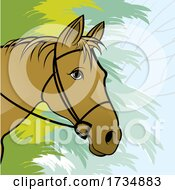 01/17/2021 - Horse Wearing Bridle