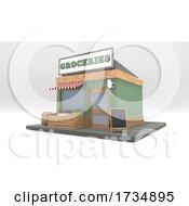 Poster, Art Print Of 3d Cartoon Shop Keeper Character