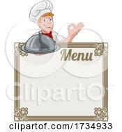 01/17/2021 - Chef Cook Baker Cartoon Man Menu Sign Background