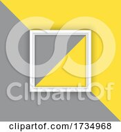 Display Background With Picture Frame On Grey And Yellow Background