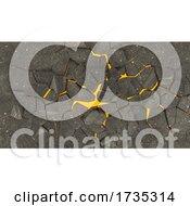 Fractured Ground Background
