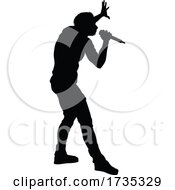 01/22/2021 - Singer Pop Country Or Rock Star Silhouette
