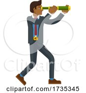Telescope Spyglass Character Business Concept by AtStockIllustration #COLLC1735345-0021