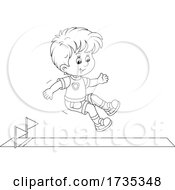 01/22/2021 - Track And FIeld Boy Jumping