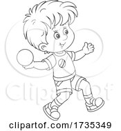 01/22/2021 - Track And FIeld Boy Throwing Shot Put