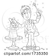 01/22/2021 - Magician Doing The Rabbit Hat Trick