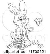 01/22/2021 - Female Bunny Gathering Easter Eggs