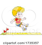 Track And FIeld Boy Jumping