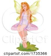 Poster, Art Print Of Beautiful Fairy On A Mushroom