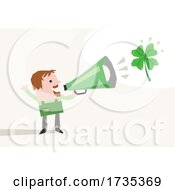 Man Announcing On St Patricks Day