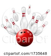 3d Bowling Ball and Pins by Vector Tradition SM #COLLC1735648-0169
