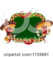 Mexican Red Pepper Mascot by Vector Tradition SM