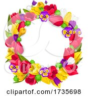 Floral Easter Wreath by Vector Tradition SM