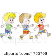 Three Boys Running