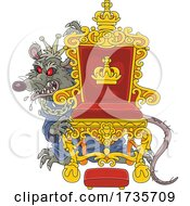 Evil Red Eyed Rat King Behind His Throne