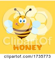 Happy Chubby Bee And Honey Text