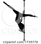 Poster, Art Print Of Pole Dancing Woman Silhouette